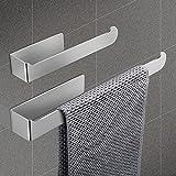 porta asciugamani bagno da parete - portasciugamani da ventosa portasalviette senza foratura acciaio inox autoadesivo 37/23cm accessori per il bagno