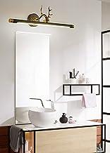 SFOXI LED Retro spiegellamp gewei vintage messing spiegellamp spiegelkast make-up licht antieke kaptafel spiegelverlichtin...