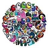 52Pcs Cartoon Game Waterproof Vinyl Stickers for Kids Girls Teens, Game Among Stickers Decals for Laptop Water Bottle Bike Skateboard Luggage Computer Hydro Flask Toy Snowboard