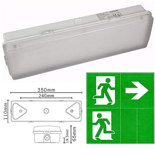 LED emergency battery backup bulkhead light fitting garage workshop pub office