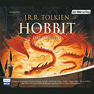 Der Hobbit     Das Hörspiel              By:                                                                                                                                 J.R.R. Tolkien                               Narrated by:                                                                                                                                 Martin Benrath,                                                                                        Horst Bollmann,                                                                                        Bernhard Minetti                      Length: 4 hrs and 27 mins     1 rating     Overall 5.0