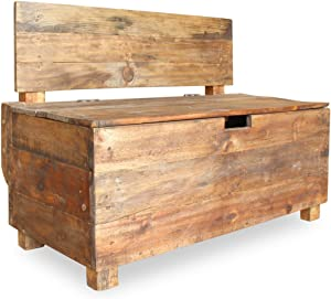vidaXL Bench with Compartment Handmade Solid Reclaimed Wood Entryway Chair
