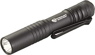 Streamlight MicroStream Ultra-compact Aluminum body with AAA alkaline battery, 3.5 Inch - 1.04 oz - 45 Lumens - 66318