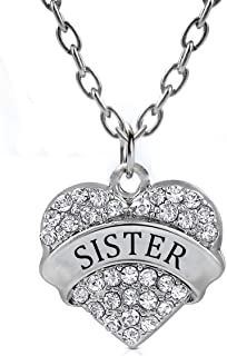 ATDMEI Heart Mom Oma Daughter Grandma Aunt Nana Niece Necklace Alloy Zircon Jewelry with Gifts Box