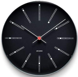 Arne Jacobsen Wall Clock, aluminium, Black, 29cm