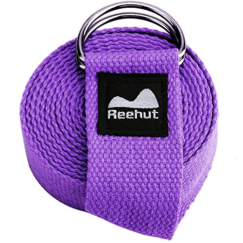 REEHUT Fitness Exercise Yoga Strap (6ft) w/Adjustable D-Ring Buckle for...