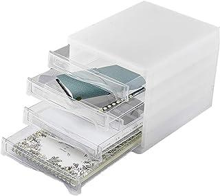 Rangement de dossiers 5 tiroirs Armoires de classement en Plastique, boîte de Rangement Armoire de Bureau à Domicile Armoi...
