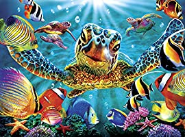Buffalo Games-Marine Color-Tiny Bubbles-1000 Piece Jigsaw Puzzle