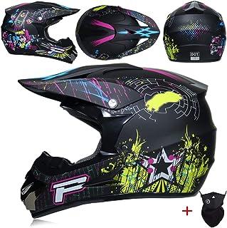 HSENA OffRoad Caschi del motociclo adolescenti adulti antiurto Luce del fronte pieno della motocicletta di motocross del c...