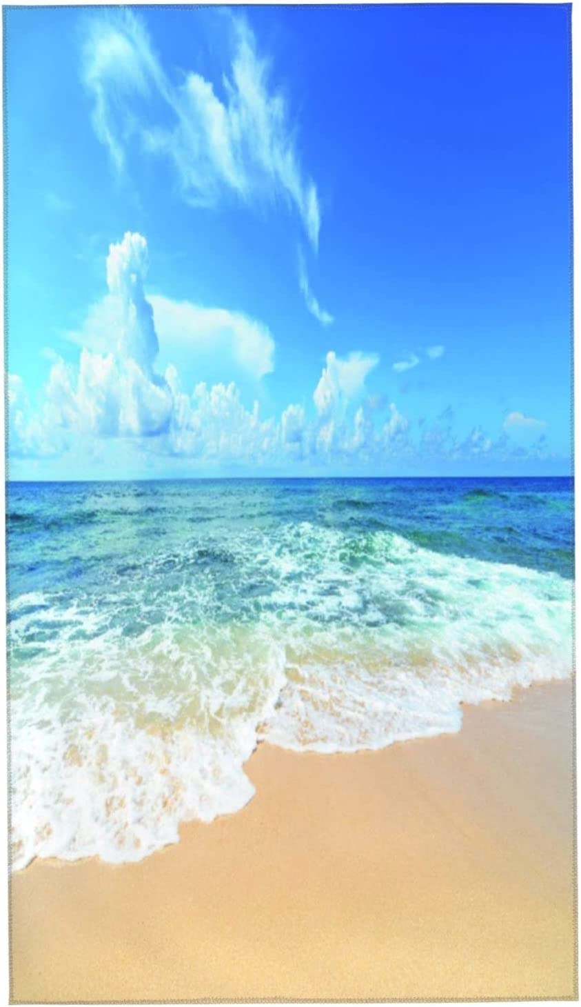 SUDISSKM Max 82% OFF Hand Towels Ocean Waves All items in the store Beach Paradise and Golden with