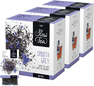 Pickwick Slow Tea Smooth Grey, 3er Pack 3x25 kuvertierte Teebeutel à 2,7g, Schwarzer Tee, feine Zitrusnoten der Bergamotte