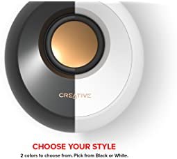 Creative Pebble 2.0 USB-Powered Desktop Speakers with Far-Field Drivers and Passive Radiators for Pcs and Laptops (Bl...