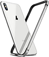 RANVOO Bumper Case for iPhone Xs / iPhone X,Hard Slim Thin Protective Bumper Case with Soft TPU Inner Frame Compatible for iPhone Xs / iPhone X 5.8 inch-Silver