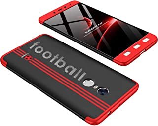 Xiaomi Redmi Note 4 case, Fashion ultra Slim GKK 360 special edition Football 3d printed Full Protection cover Case - Red...