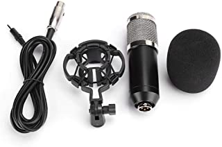 Condenser Microphone, Microphone, with Shockproof Stand Exquisite Design High Sensitivity for Voice Recording Live Streaming