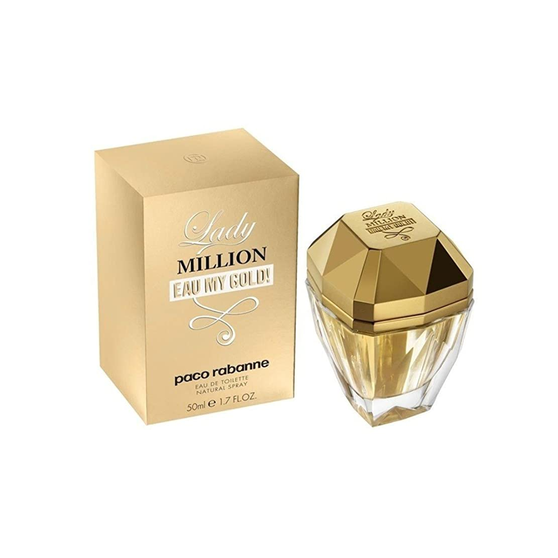 ベーススリットメガロポリスLADY MILLION EAU MY GOLD PACO RABANNE 50 ML