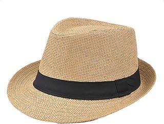 778e025d61457 Demarkt Paille Panama Capeline Chapeau Anti UV pour Été Plage Loisirs  Voyage Chapeau D'été