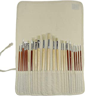 Hide & Drink, Artist Paint Brush Canvas Roll-Up Storage Wrap / 24 Slots/Workshop Art Study Handmade :: Manta