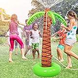 LVHERO Wasser Spiel Sprinkler Aufblasbare 160 cm Hohe Palme Baum Yard Sprinkler Spielzeug Kinder Spray Wasser Spielzeug Outdoor Party Sommer Spaß