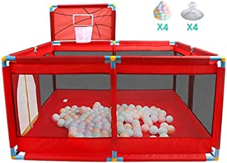 YLLSB-Baby fence Home Baby Playpen Kids Toys Red Ball Pool Infant Play Fence with Backboard  color Size 128x128x66cm  A 128x128x66cm  Color Size 128x128x66cm