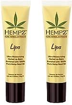 Hempz Non SPF Herbal Lip Balm Set of 2 .44 oz each