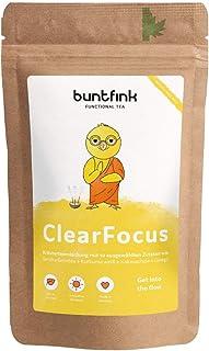 """Buntfink """"ClearFocus"""" Tee mit Sencha Grüntee  Kurkuma  Ginkgo  schwarzer Pfeffer, für Schule, Job und Studium, 100% natürlicher Kräutertee aus Deutschland, 60g loser Tee"""