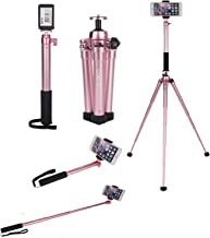 Phone Tripod, COMAN 2-in-One Aluminum Camera Tripod Kit Compact Tripod with Detachable Selfie Stick for Travel with Bluetooth Remote and Phone Adapter for iPhone Phone and Digital Camera
