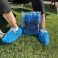 Copriscarpe Monouso Resistenti (4 g.), Calzari Usa e Getta in CPE - DPI Dispositivi di Protezione Individuale - Pulizia per la Casa - Giardinaggio - Colore BLU. (CPE 4 grammi, Quantità 200 pz) #5