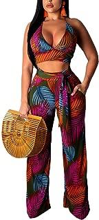floral print backless crop top bikini set