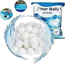 ZHOUHON, Bola de Filtro de Piscina de 700 g, Bola de Filtro, Filtro de Fibra de Piscina, Filtro de Arena, Filtro, de Agua.Bola de Filtro para Piscina 。
