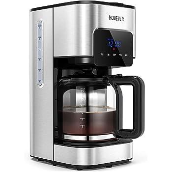 Cafetera con temporizador, cafetera de filtro Homever.: Amazon.es ...