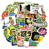 QINGMI Unids/Set Cartoon Animal Sad Frog Pegatina Divertida Snowboard Equipaje Nevera de Coche Car-Styling Laptop Stickers PVC Impermeable 50 Uds