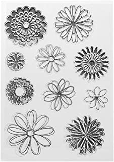 Tampons en silicone transparent pour loisirs créatifs - Motif fleur - Pour scrapbooking, décoration de cartes, scrapbookin...