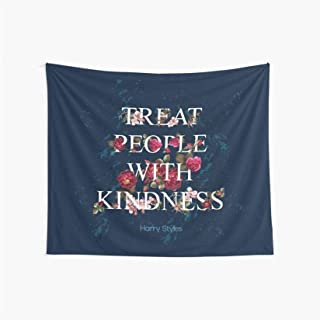 Best CuYatry Treat People with Kindness - Harry Styles Boutique Tapestry Wall Hanging Tapestry Vintage Tapestry Wall Tapestry Micro Fiber Peach Home Decor 59.1X51.2 in Reviews