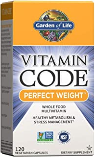 Garden of Life Vitamin Code Perfect Weight Multivitamin for Women and Men, Healthy Active Metabolism, Stress Management, W...