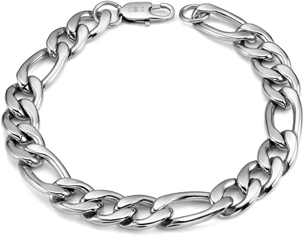 THREE KEYS JEWELRY 6mm 10mm Mens Chain Sales of SALE Inventory cleanup selling sale items from new works Figaro Link Men for Cuban