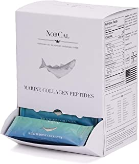 Norcal Organics Marine Collagen Peptide Powder, 30 Pack | 12g Protein per Packet | Type 1 and 3, from Norwegian Wild Cod Fish | Natural, Keto, Paleo