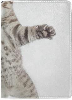 Passport Holder Funny Kitten Cat Passport Cover Case Wallet Card Storage Organizer for Men Women Kids