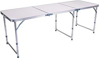 comprar comparacion Sunflo Mesa Plegable portátil de 6 pies de Altura Ajustable Mesa de Camping portátil Interior y Exterior Picnic Comedor Ba...