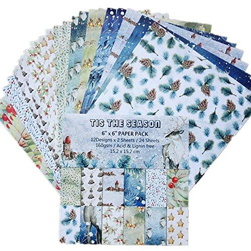 Fotoalbum knutselen kaart knutselen papier stempel scrapbook knutselen 24 stuks knutselen album scrapbook hand account kaart maken van papieren vloeren 15,2 cm PA1778 -