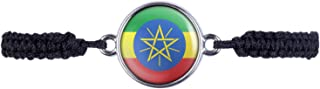 Mylery Bracciale Etiopia Addis Abeba bandiera argento o bronzo 16 mm