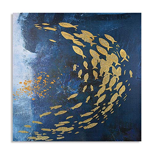 """""""Gold Fish School Cyclone"""" Oil Painting on Canvas"""