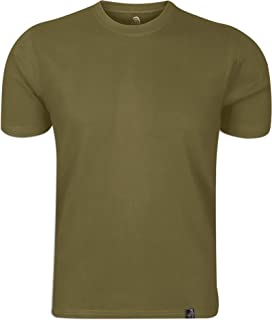 Wackylicious Men's T-shirts Classic Round Neck & Short Sleeves Cotton T-shirts Military Green L