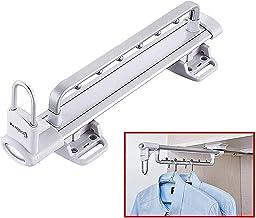 WECDS Wieszak na ręczniki wysuwany wieszak na szafkę regulowany wieszak na ubrania drążek na ręczniki przedłużenie organiz...