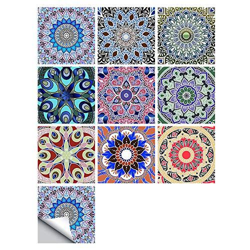 Empalme Pequeñas Pegatinas De Azulejos De Simulación Floral Renovación Del Hogar Decoración De Cocina Y Baño Pegatinas De Pared Autoadhesivas 10x10cm