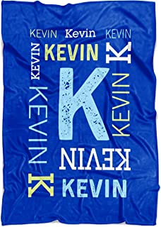Personalized Name Blanket for Baby Boy Girl Kids and Adults. Custom Name Blanket from Your Name. Repeating Name Customized Fleece Throw. Gift for Birthday, New Dad Mom (Fleece Baby 30