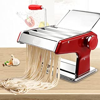 SmartenPlus Stainless Steel Manual Pasta Maker Machine with Adjustable Thickness Settings and 3 cutters, Perfect for Profe...