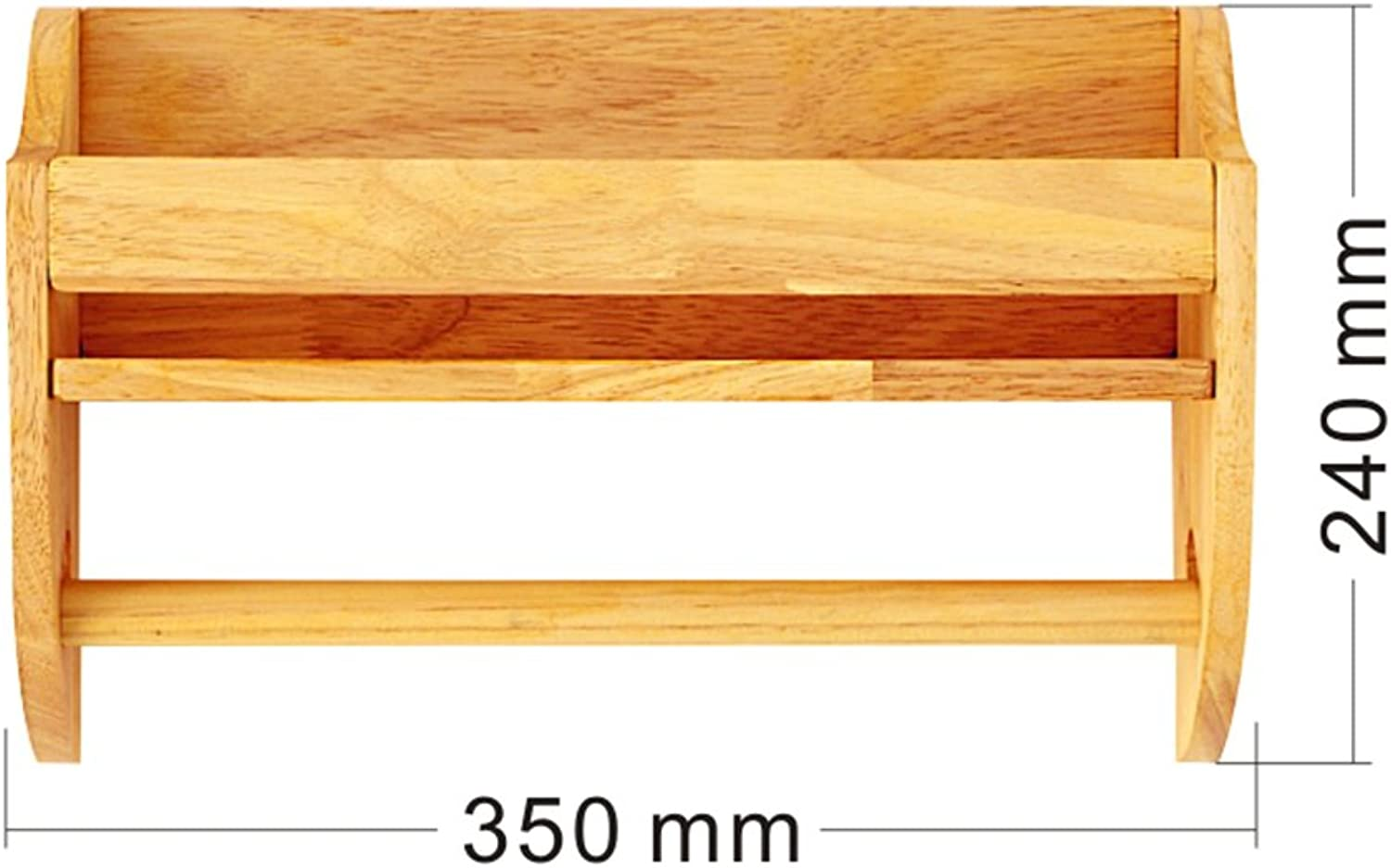 XIA Coat Rack Solid Wood Wall Hanging Storage Shelf Multifunction Living Room (Size   35CM)