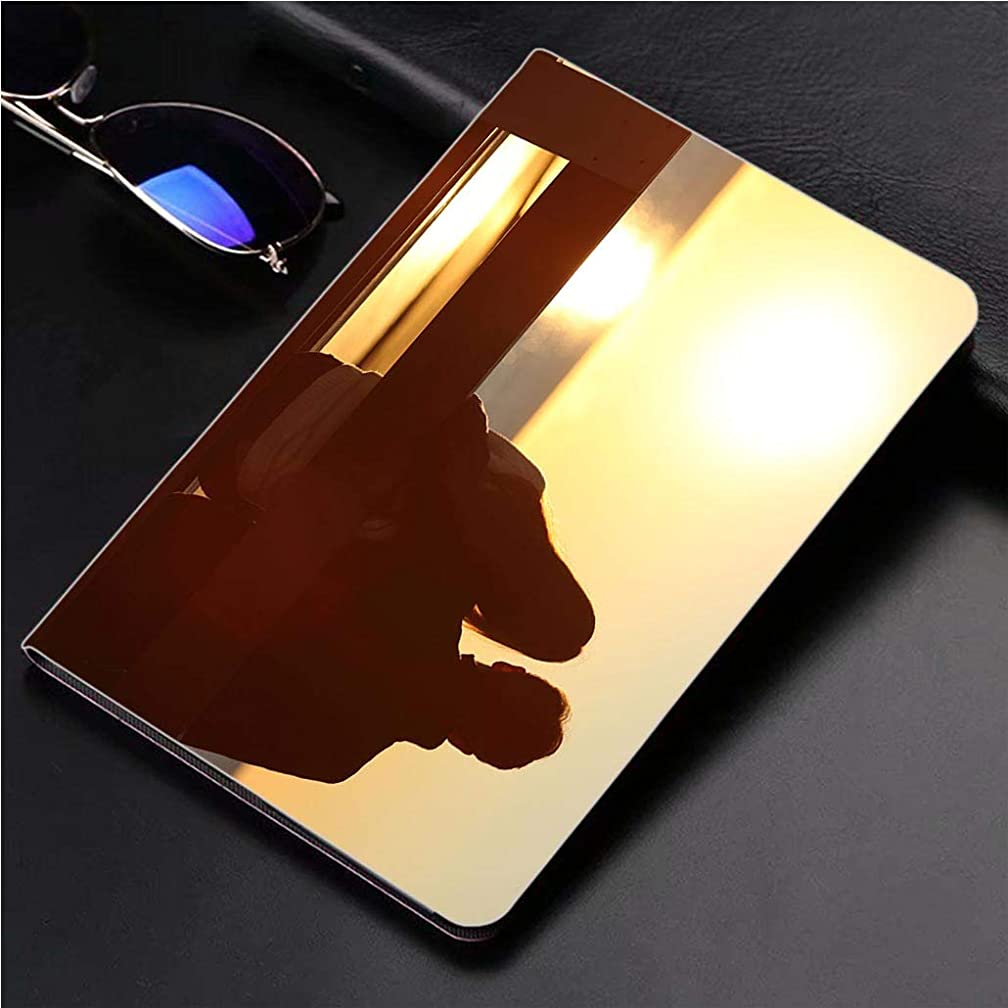 Compatible with 3D Printed iPad Pro 10.5 Case Back View of a Couple Watching Sun on The Beach 360 Degree Swivel Mount Cover for Automatic Sleep Wake up ipad case