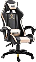 Luxurious Gaming Chair, Ergonomic Home Office Computer Swivel Liftable Chairs with Footrest Armrest Lumbar Support Easy to...